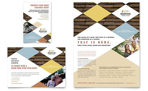 roofing business cards templates free roofing contractor business card letterhead template