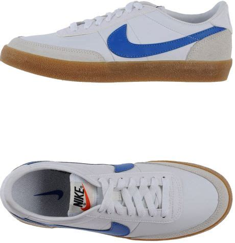 nike low top trainers in white azure lyst