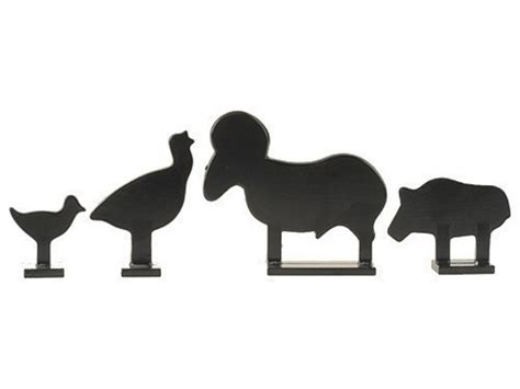 printable animal silhouette targets crosman metal silhouette airgun pellet targets package of 4