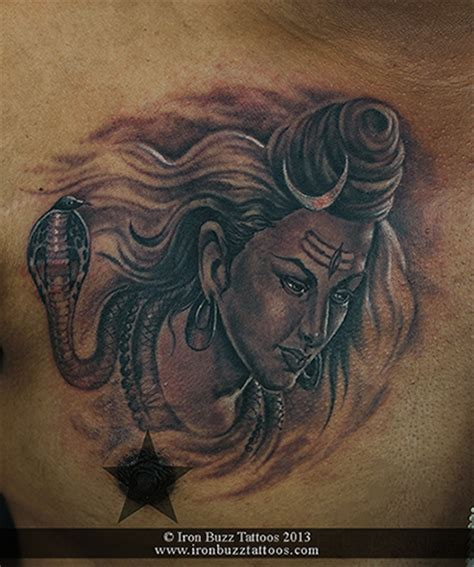 bangalore studio chest tatto images best lord shiva mahadev tattoos done at iron buzz