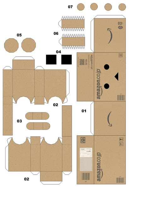 Papercraft Box Template - danbo papercraft a by yuiiwae on deviantart