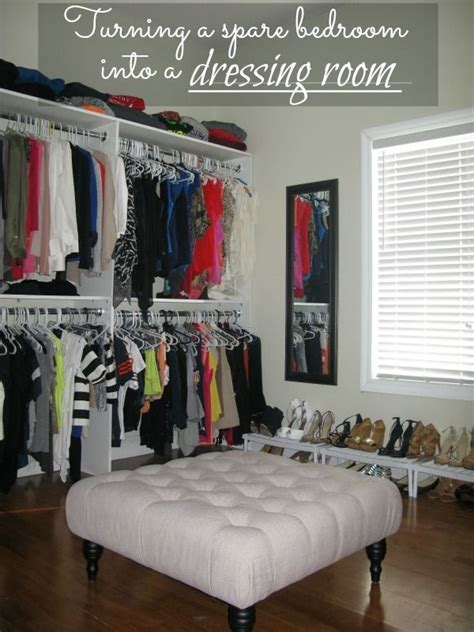 what to do with a spare bedroom diy turning a spare bedroom into a dressing room on a