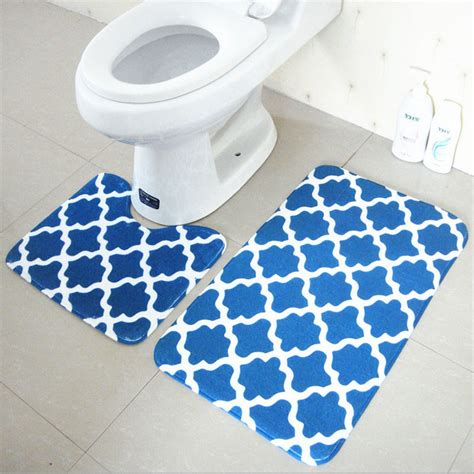bathroom carpeting bath mat set 2 pieces 100 polyester non slip bathroom