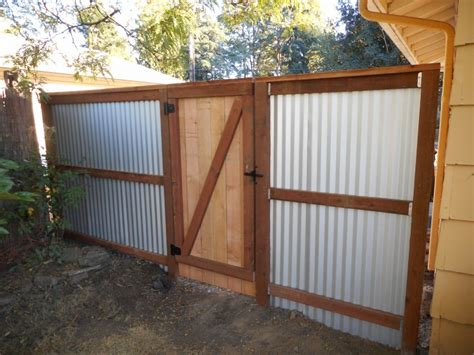 corrugated metal fence ideas how to make corrugated metal fence best idea garden