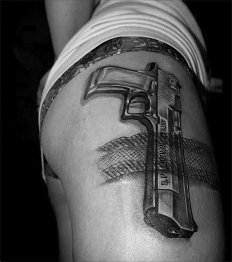 gun holster tattoo design desert eagle firearms such