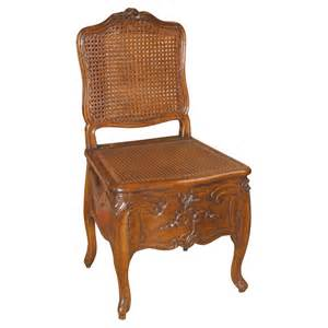 Louis xv beech wood commode chair at 1stdibs