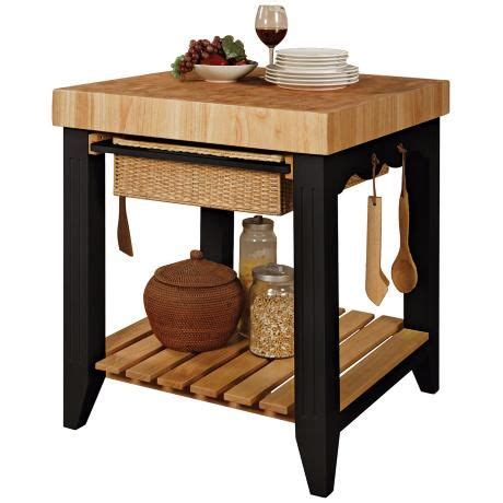 black butcher block kitchen island