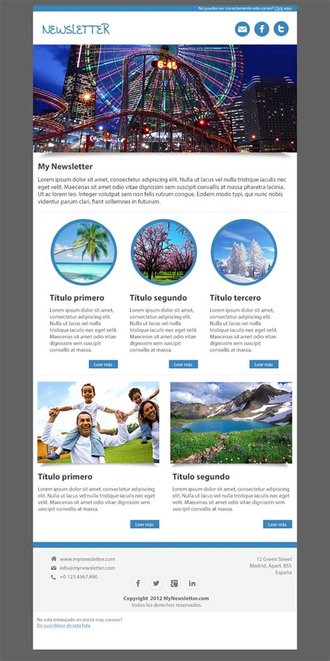 Sphere Newsletter Template Html Html Newsletter Templates Free