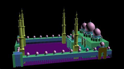 design masjid autocad shaikh zayed mosque 3ds