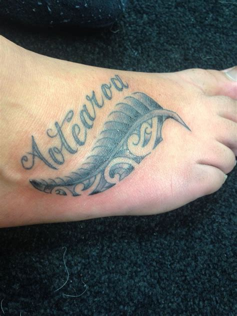 nz tattoos designs aotearoa and a silver fern dunedin