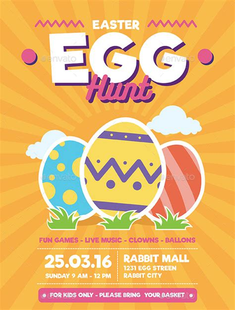 Easter Egg Flyer Template 29 easter flyer free psd ai vector eps format