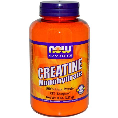 creatine p l u s now foods sports creatine monohydrate powder 8 oz 227