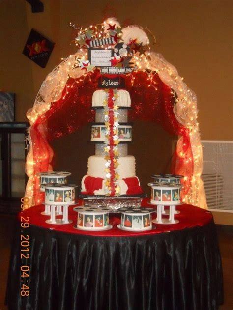 quinceanera themes for october quinceanera cake hollywood theme quinceanera