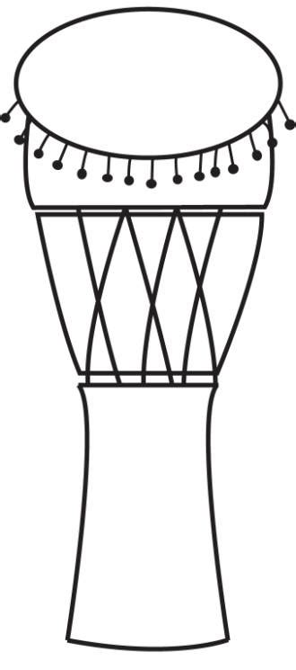 african instruments coloring page african drumming clipart 25