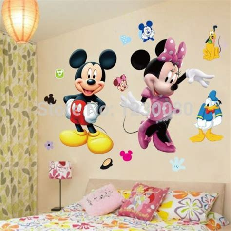 mickey mouse minnie vinyl mural wall sticker decals