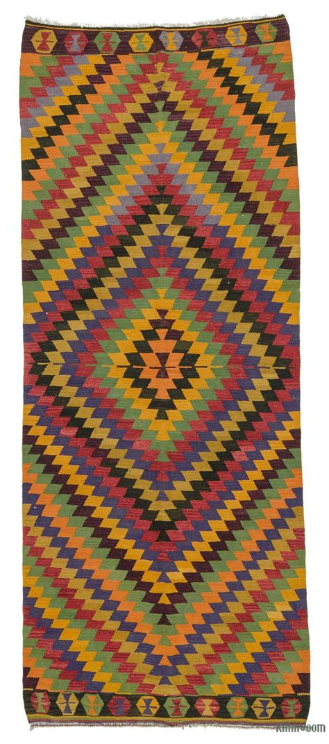 Kilim Runner Rug Sale by K0020996 Multicolor Vintage Turkish Kilim Runner