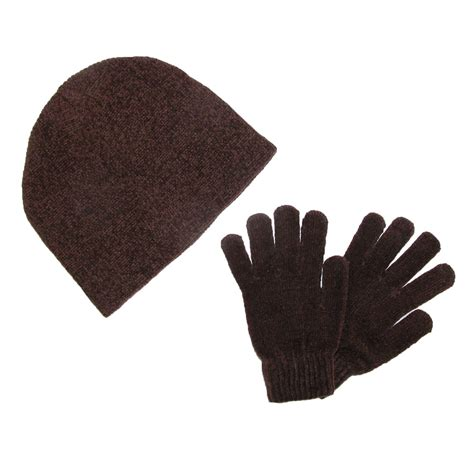 womens chenille hat and glove winter set by ctm 174 winter
