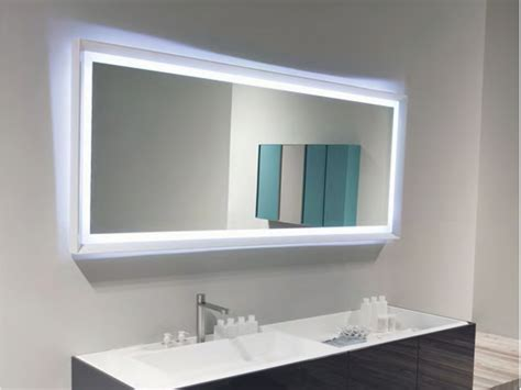 blue bathroom mirror mirror design ideas led large bathroom mirrors with