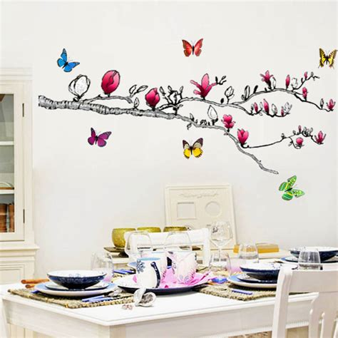 butterfly wall stickers 3d tree wall sticker with 3d butterfly s by kisses and