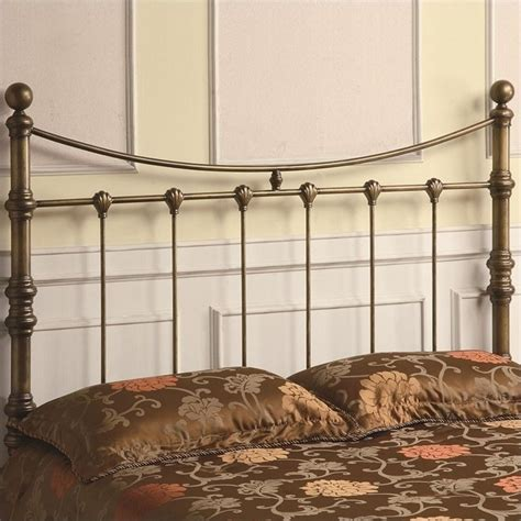 antique metal headboards coaster queen iron headboard in antique gold 300196q