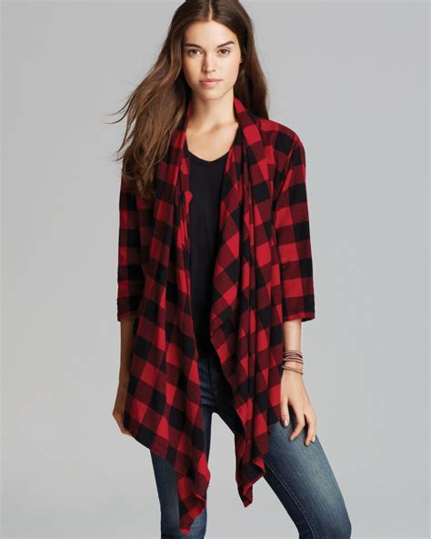 check cardigan alternative apparel cardigan voyager buffalo check in