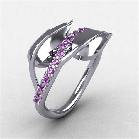 amethyst engagement rings for