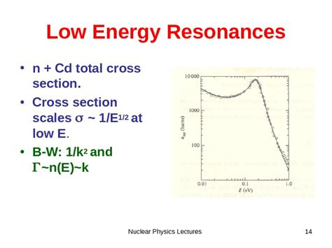 nuclear cross section calculation nuclear physics lectures 1 cross sections