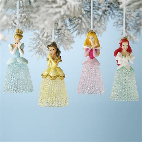 disney princess 4 pc ornaments christmas pinterest