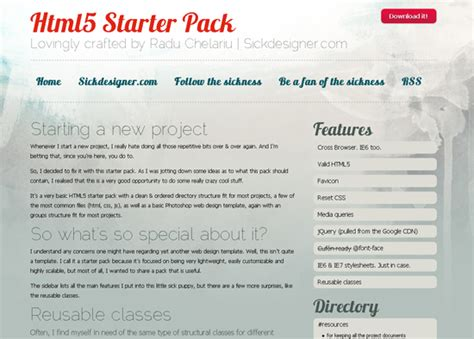 40 beautiful free html5 css3 templates