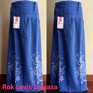 Best Seller Rok Panjang Cew Murah Meriah grosir rok levis dewasa murah baju3500