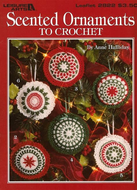 z338 crochet pattern book only scented ornaments christmas