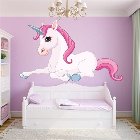 Bedroom Wall Stickers For Girls stickers licorne pas cher