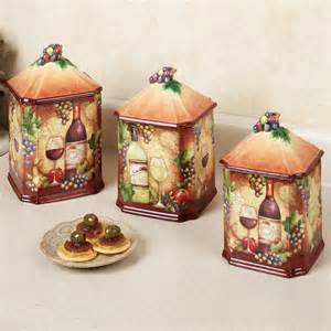 Wine Kitchen Canisters by Pin Wine Grape Kitchen Decor On Pinterest