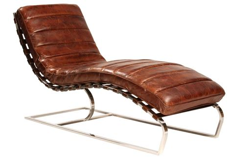 Leather Chaise Lounge Chairs by Chaise Lounge Finished In Antiqued Distressed Brown