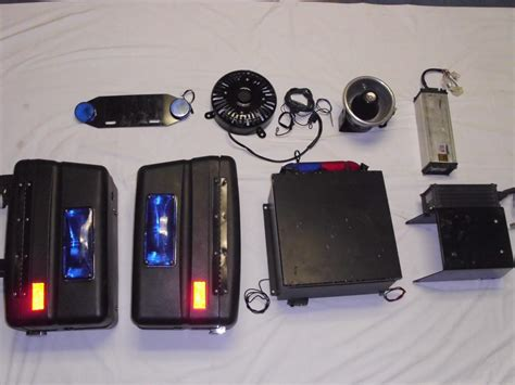 police lights and sirens complete harley police fxrp lights sirens and saddlebags