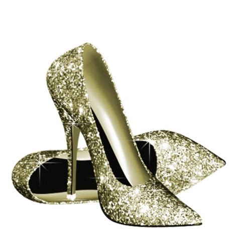gold glitter high heels gold glitter high heel shoes acrylic cut out zazzle
