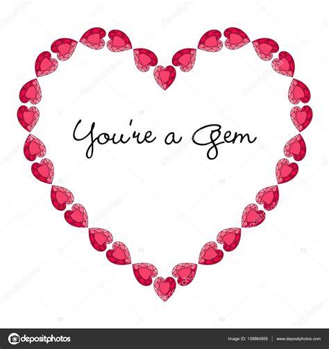 cornice a forma di cuore cornice di san valentino a forma di cuore vettoriali