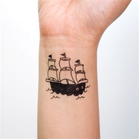 pretty small ship tattoo tattoomagz