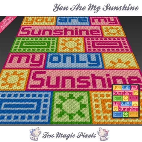 crochet pattern you are my sunshine you are my sunshine crochet blanket twomagicpixels