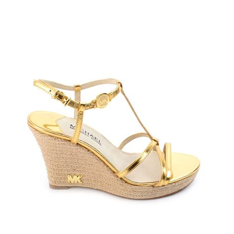 michael kors kami wedge sandal michael michael kors kami gold wedge sandal