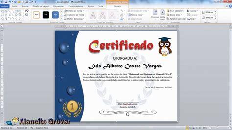 como descargar sertifidos en microsoft gratis 02 crear un certificado con microsoft word youtube