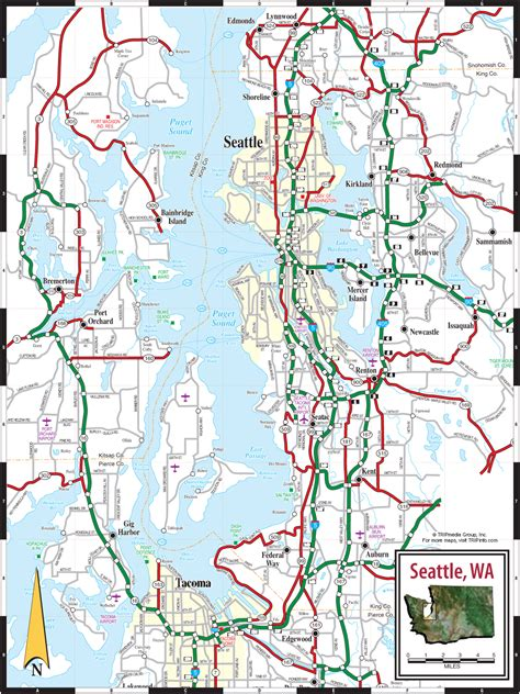 seattle map pdf seattle wa map