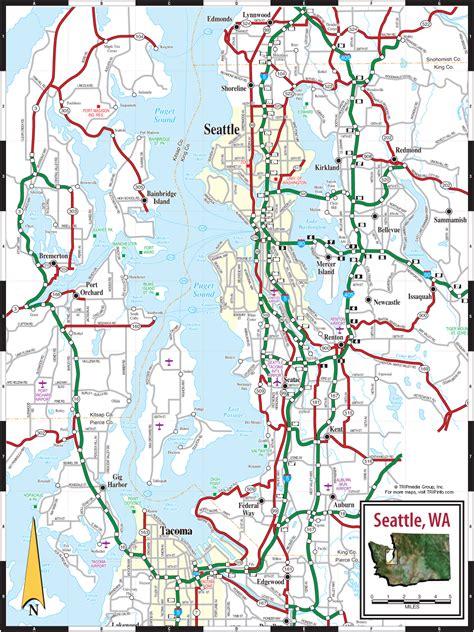 seattle map is seattle wa map