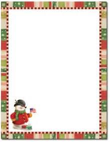 christmas stationery patriotic snowman letterhead