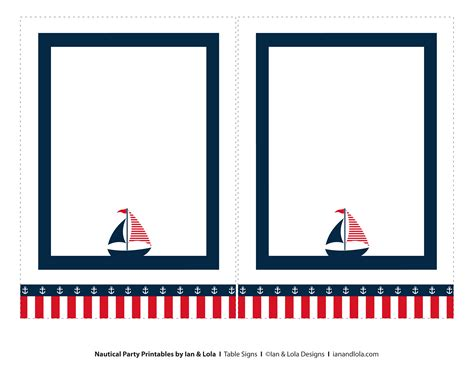 nautical card templates free nautical printables from ian lola designs