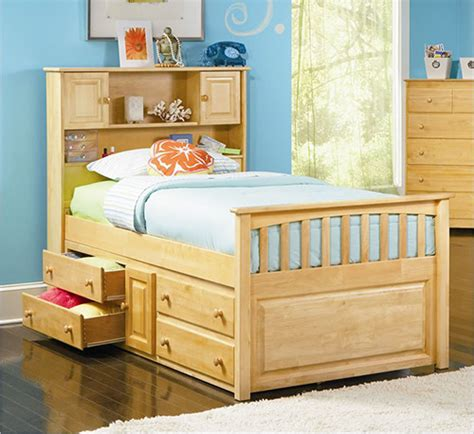 captain s bookcase bed with underbed 4 drawer chest