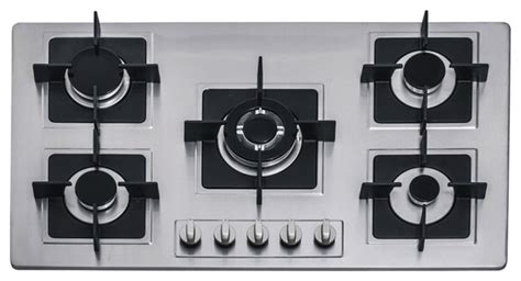 Single Vanity Cabinet 36 Inch Stainless Steel Built In Kitchen 5 Burner Stove