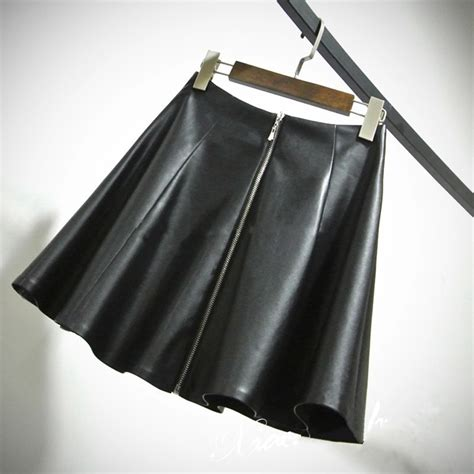 6xl 7xl plus size faux leather mini skirt pleated a