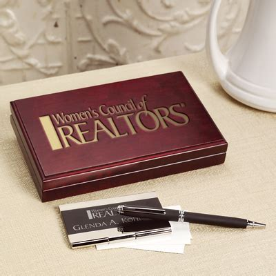 Rosewood Gift Card - rotary business card case with pen rotary club supplies russell hton company