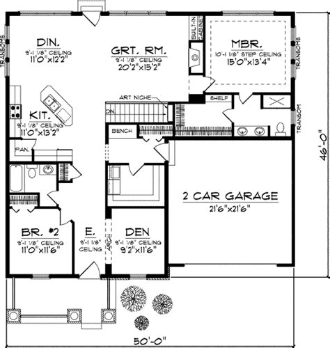 section 1059 plans bungalow house plan 2 bedrooms 2 bath 1772 sq ft plan